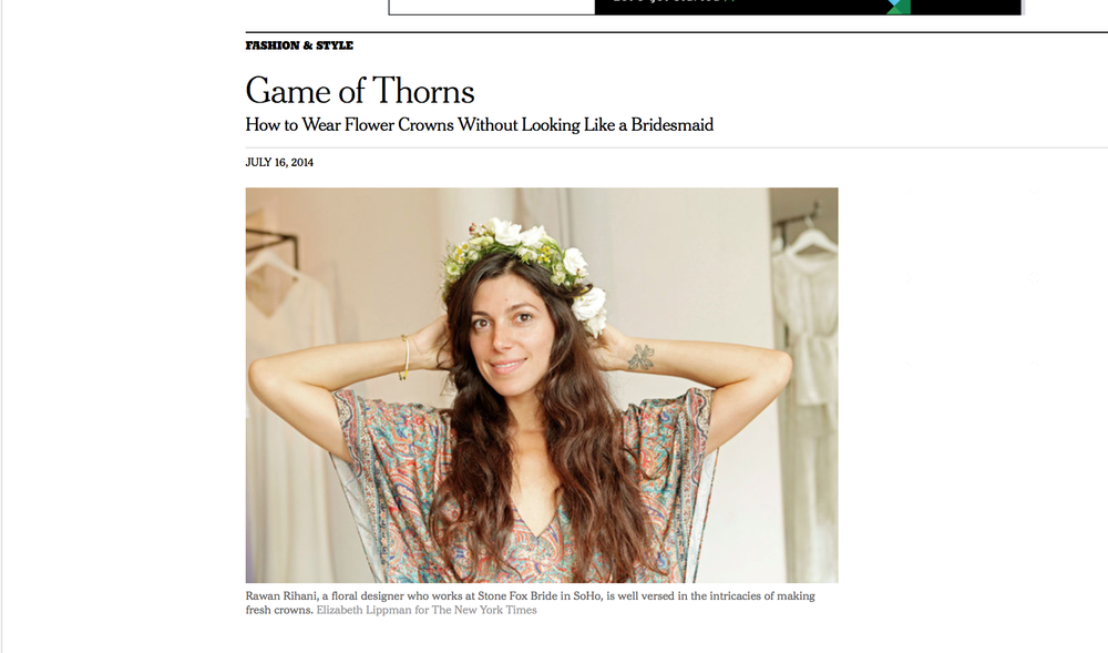"NEW YORK TIMES, ""Game of Thorns,"" July 2014"