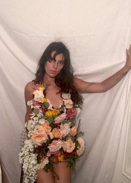 FRESH FLOWER MINI-DRESS