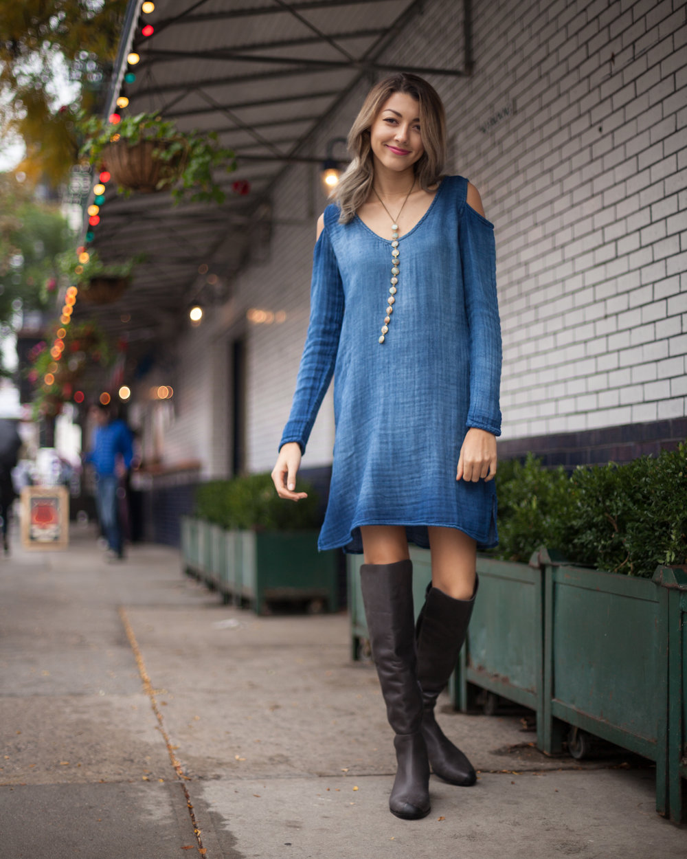 maggie ann re anthropologie anthro fifth avenue bowery instagram east village new york city nyc downtown fashion photo cloth and stone cafe holiday maggieannre