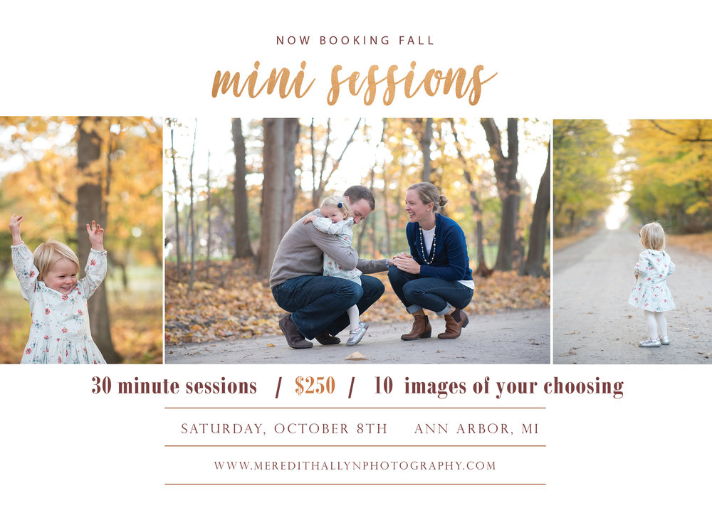 ann arbor fall mini session