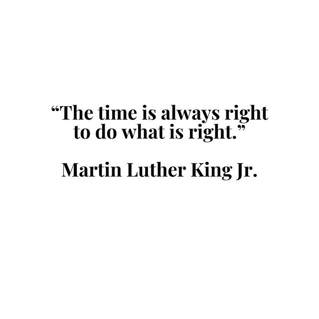 This day always humbles me. We have a long way to go.  #mlk