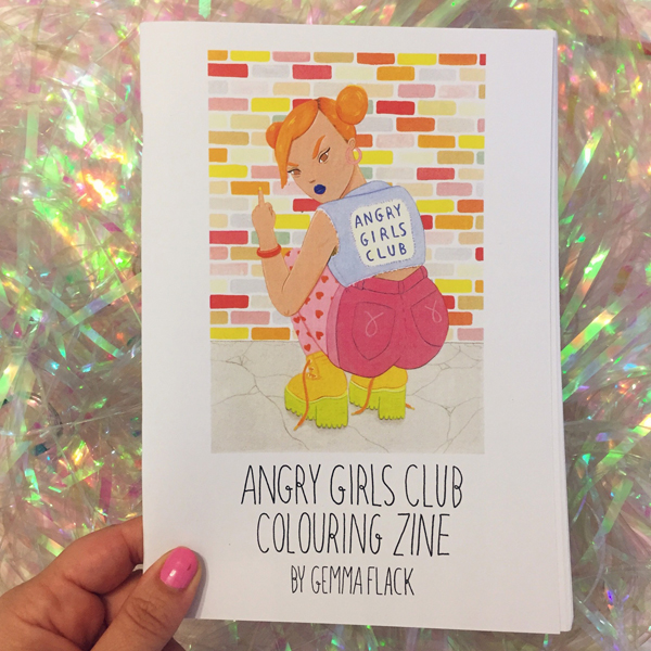 Angry Girls Club Colouring Zine
