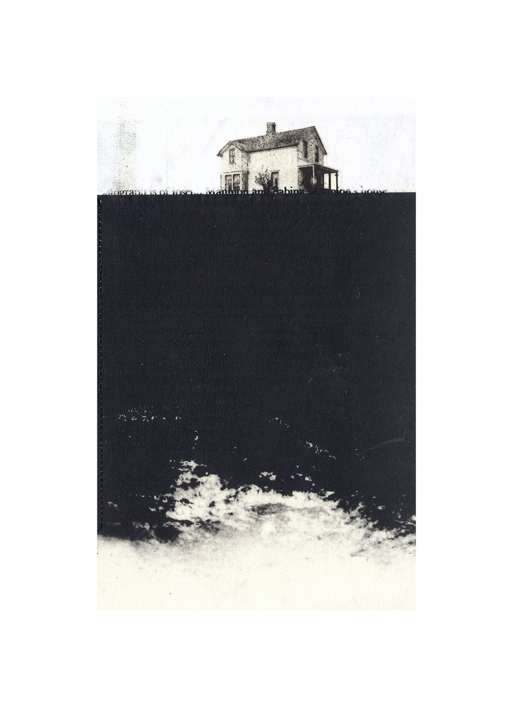 "Mannion House  Intaglio, screen print, chine colle, thread 15"" x 11"", 2012"