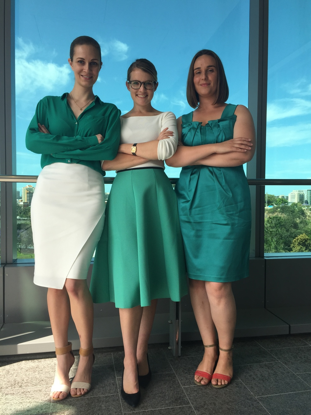 Founding Directors: Jillian Kenny, Felicity Furey, Claire Bennett (L-R).