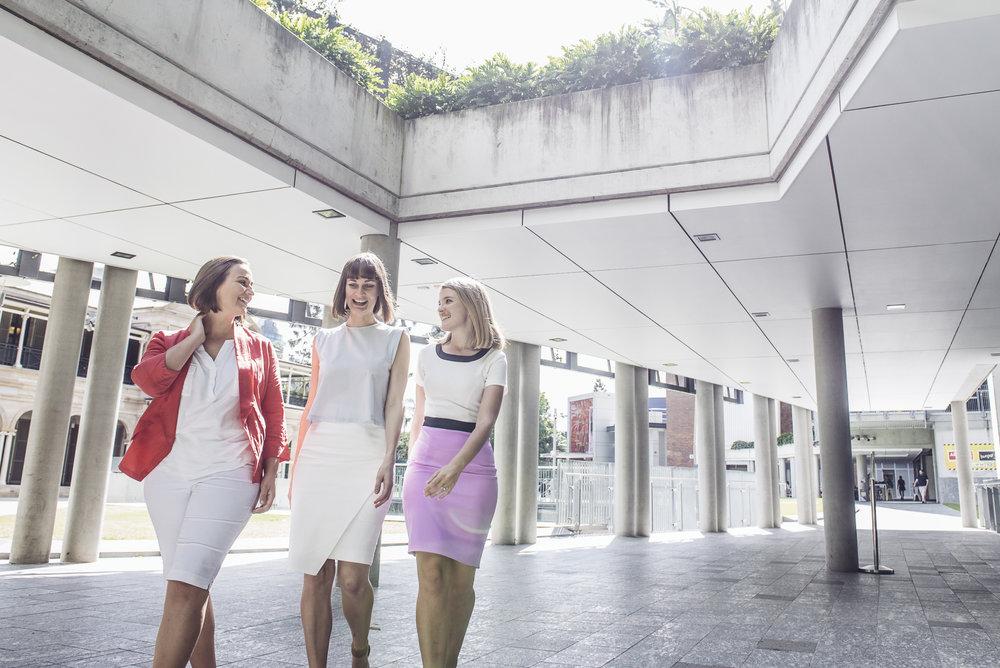 Founding Directors: Claire Bennett, Jillian Kenny, Felicity Furey (L-R)