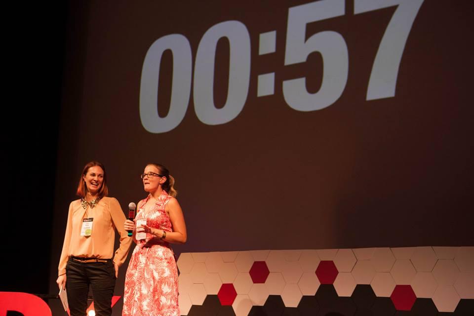 Pitching at TEDxSouthBankWomen, Brisbane