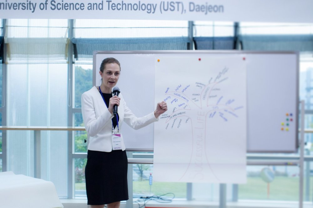 Presenting at Young Woman Scientist Camp, Korea
