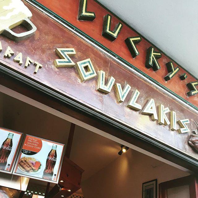 First stop in Santorini, Lucky's Souvlaki! #santorini #souvlaki #foood