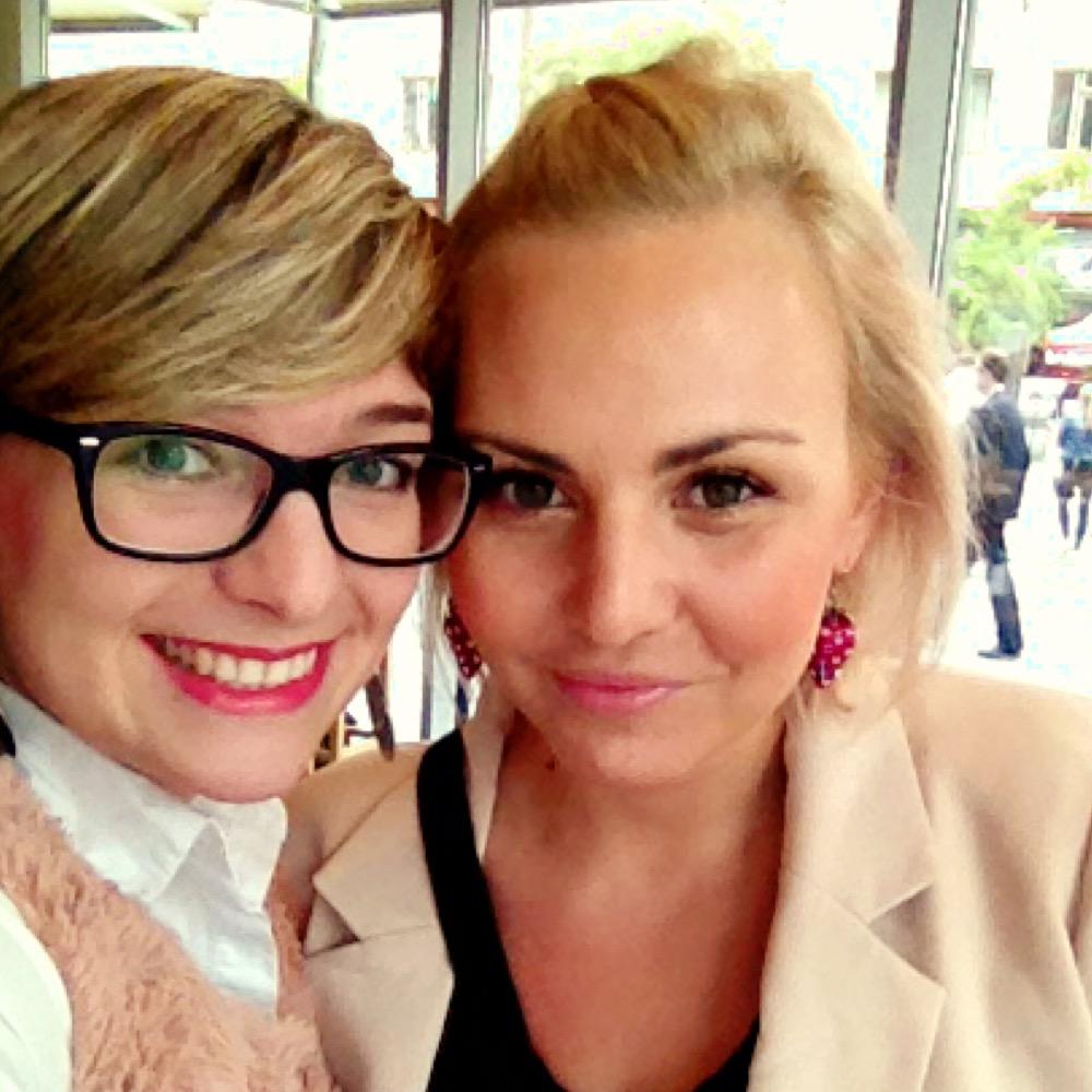 Společná selfie s Kris z MysticLipstick. Byla nejen krásná, ale i moc milá. DĚKUJI!