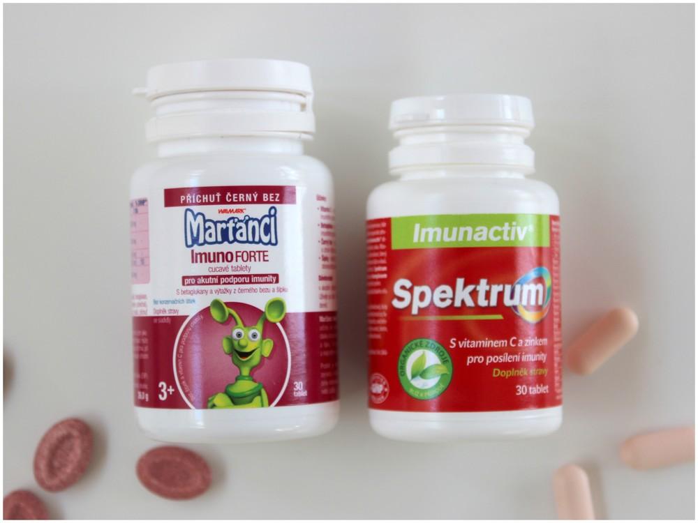 Doplněk stravy Marťánci ImunoFORTE a Spektrum.