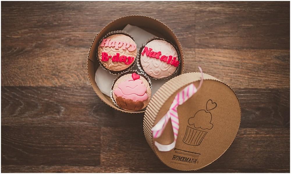 Jedna z předplacených možností - dárková sada tří cupcaků ;-)