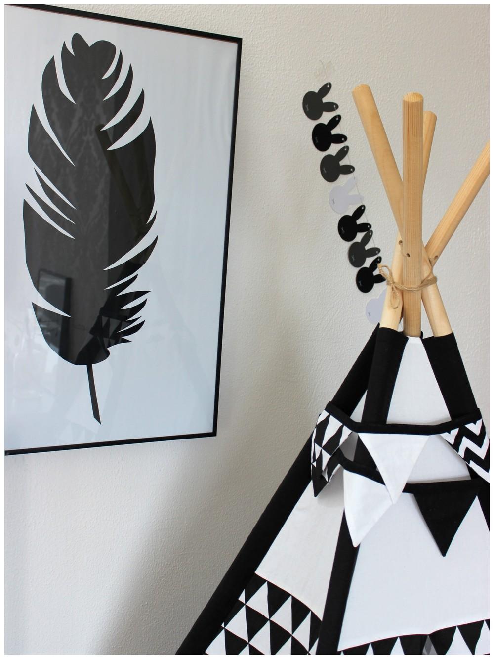 Zajíčková girlanda - Luci Art decor; Obraz peří - vlastní DIY