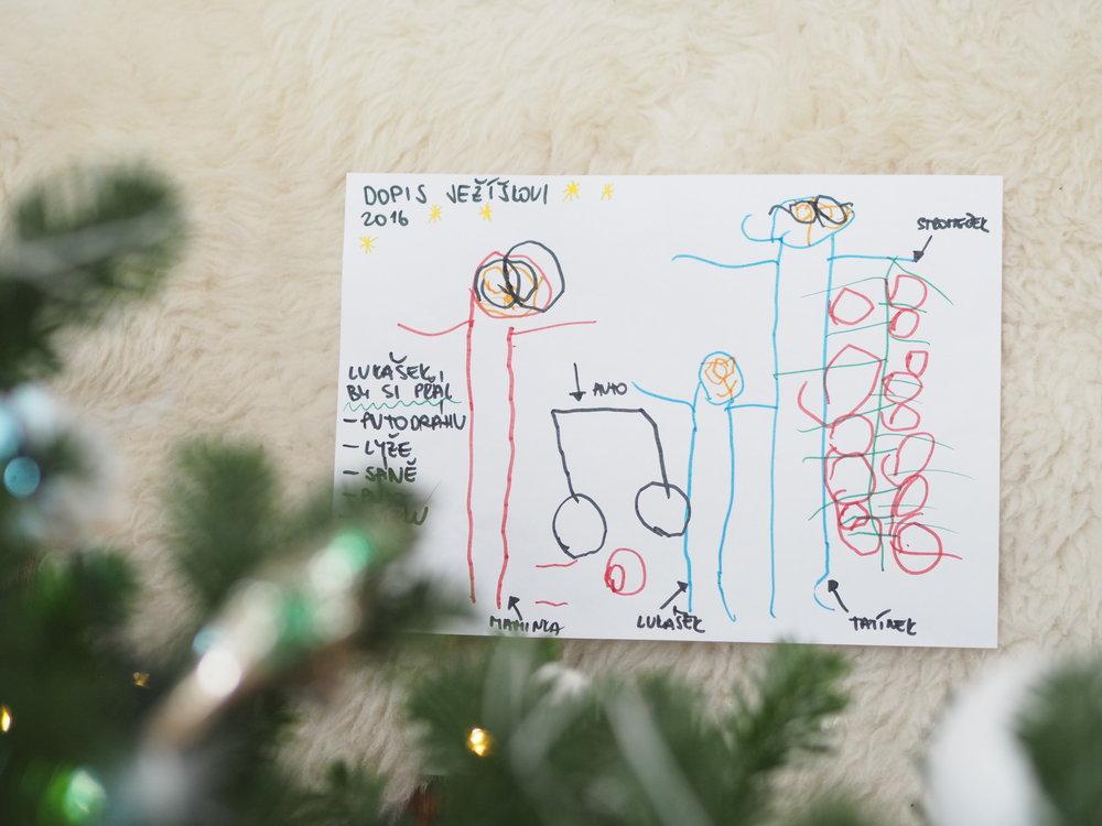 Dopis Ježíškovi, Picasso z Lukáška nebude, ale i tak se mi obrázek moc líbí.