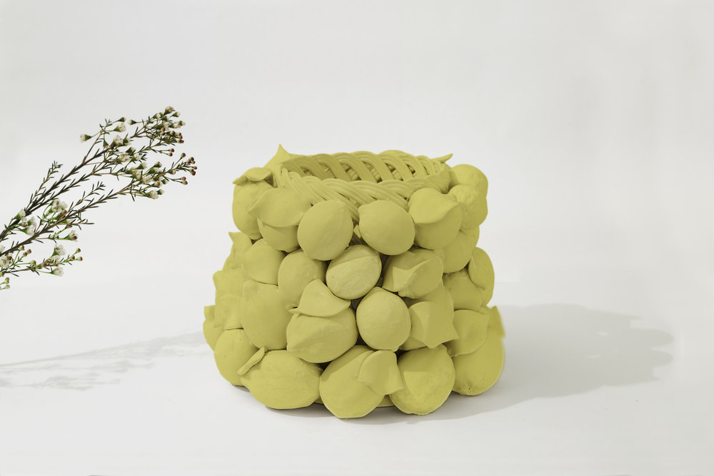 """INTRECCI  Giorgia Zanellato & Daniele Bortotto for Lanzarin Ceramiche    An homage to traditional ceramic manifacturing techniques Intrecci by Zanellato and Bortotto symbolizes a historic shift in the production of ceramic fruit baskets that, similar to the work of Caravaggio, uses inanimate objects as message bearers. The piece is the result of a collaboration with Lanzarin Ceramiche, a workshop renowned for its use of a rare technique exclusive to the Veneto region, 'a fettucia.' """"We started with a series of sketches before moving onto the repertoire of classical pieces. The final result is the culmination of many attempts and prototypes, realized in close collaboration with the ceramists who crafted the piece."""" - Giorgia Zanellato and Daniele Bortotto Giorgia Zanellato and Daniele Bortotto met in Lausanne, Switzerland, where they both studied product design at ECAL. Zanellato/Bortotto Studio was founded in Treviso, Italy, in 2014. The pair have collaborated with several Italian and International brands and their work has been exhibited in galleries and museums worldwide."""