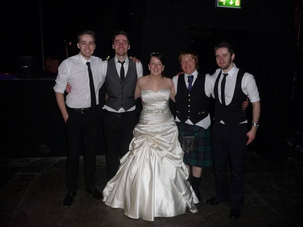 Massive thanks to The Black Ties for their fantastic set at our wedding on Saturday. You were the musical icing on the cake! We loved burning up the dance floor to your exceptional playing and hope to hear you again soon.                 Emma and Andy Dewar