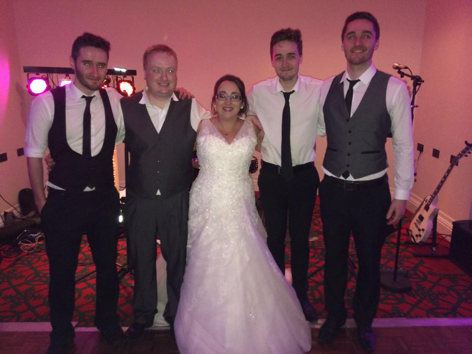 Amazing night, everyone loved you!! Seriously dudes. We say this not because it was our wedding but you guys are amazing live. Utterly brilliant. EVERYONE commented on you guys. You made our wedding. Thank you so much, hope you enjoyed your sweets!       Louise and Davie Speirs xx