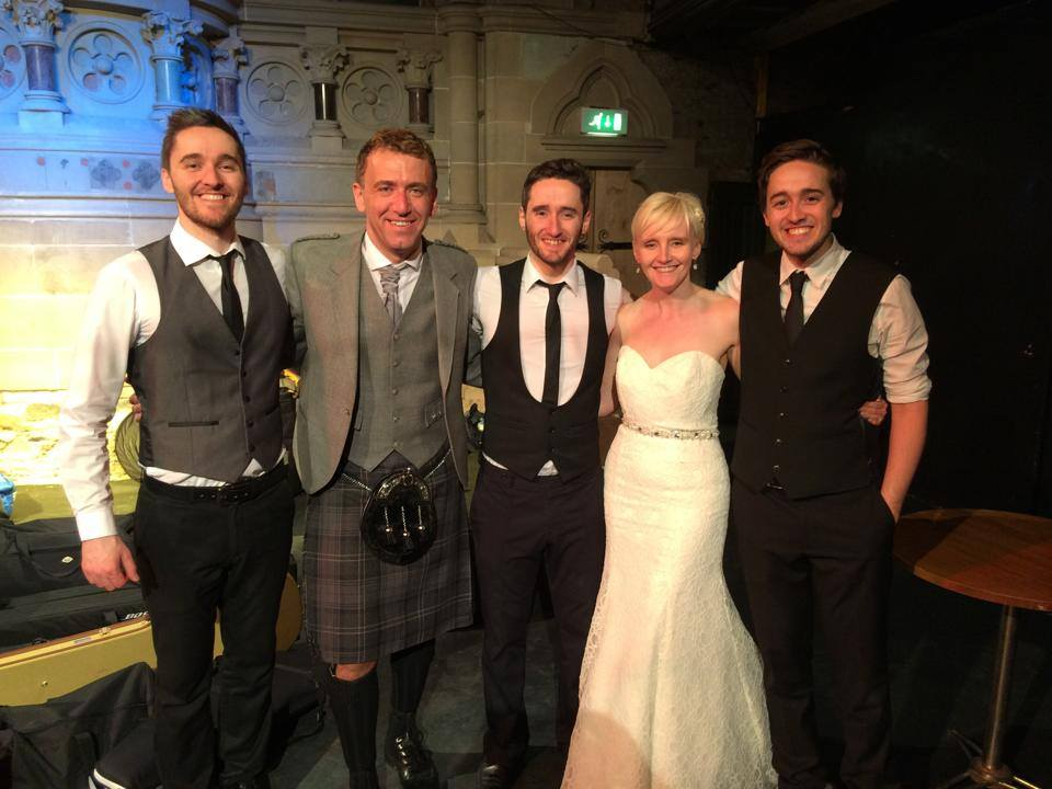 Thank you so much Dario, Luciano and Gary, you were outstanding. All our guests have been raving about you, so glad you were part of our day, and you certainly got the party started and kept it that way all night. Apologies about the woeful ceilidh dancing again!!       Lori and Scott xxx