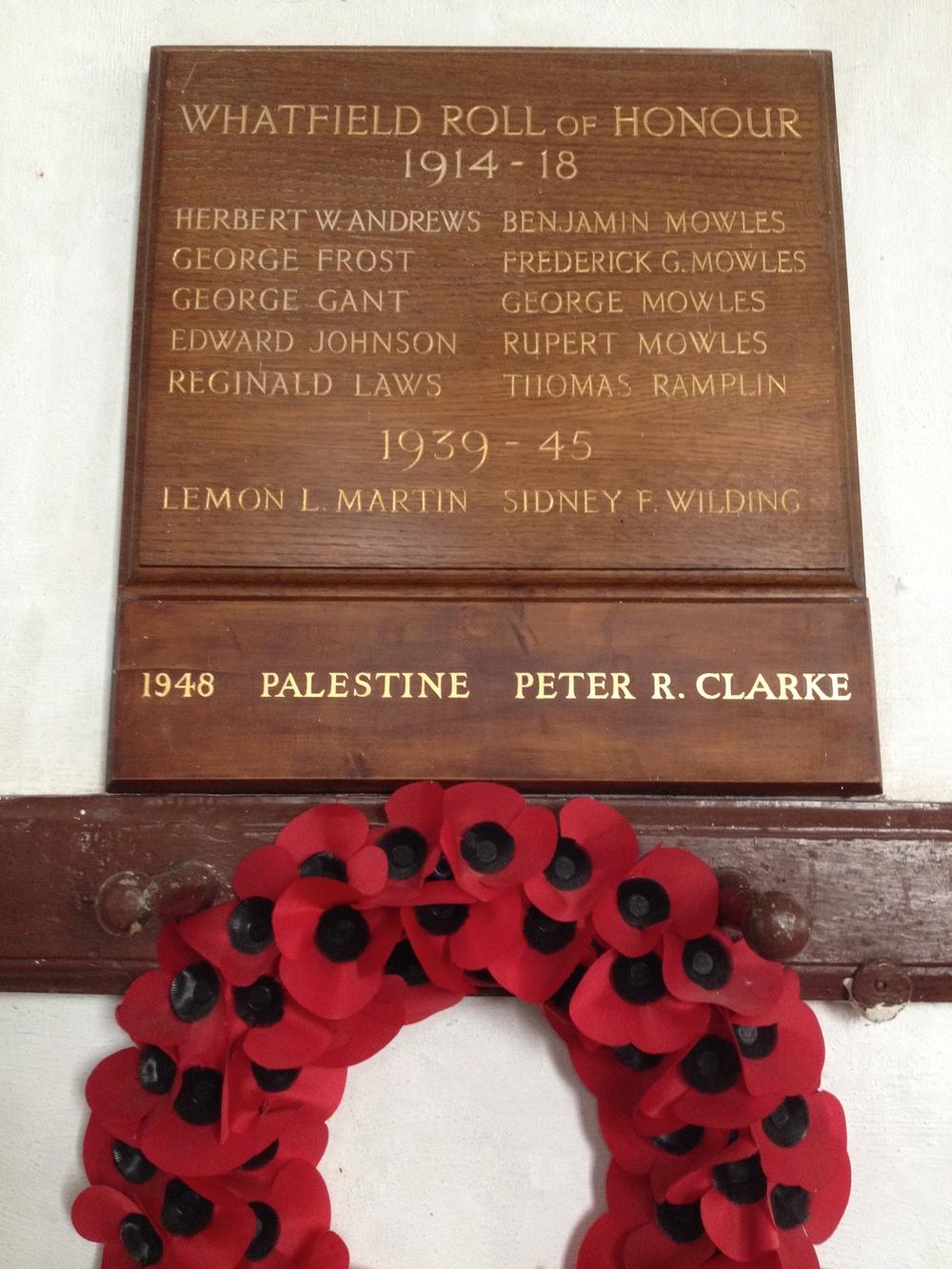 Whatfield Great War Memorial
