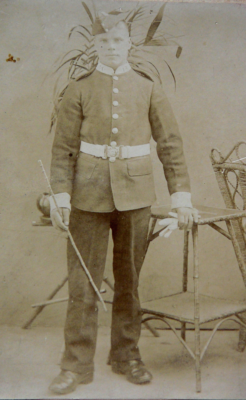 The photo above shows Private Willie Rolfe c.1902 and was taken at T Atkinson's studio in Harold's Cross, Dublin while Willie was serving in Ireland with the Suffolk Militia.