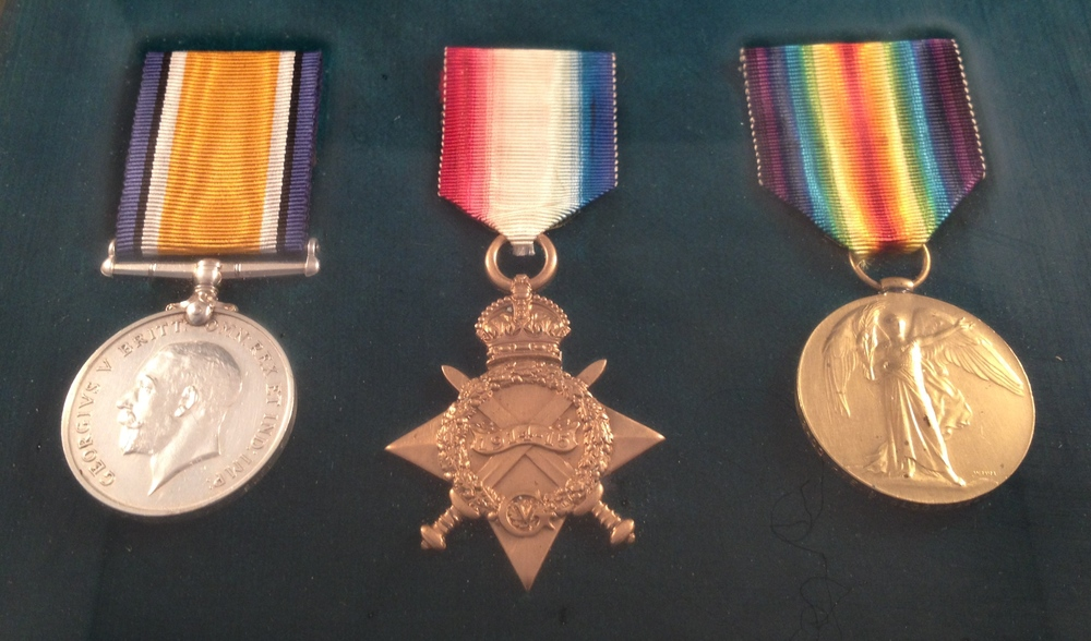 The whereabouts of Private Ernest Ward's Medals are not known, however, he was entitled to the above three medals.