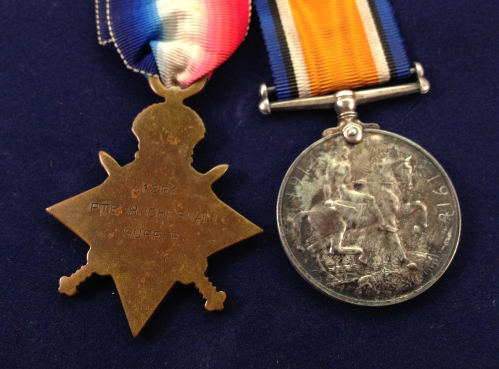 Herbert Chisnall reverse of medals.jpg