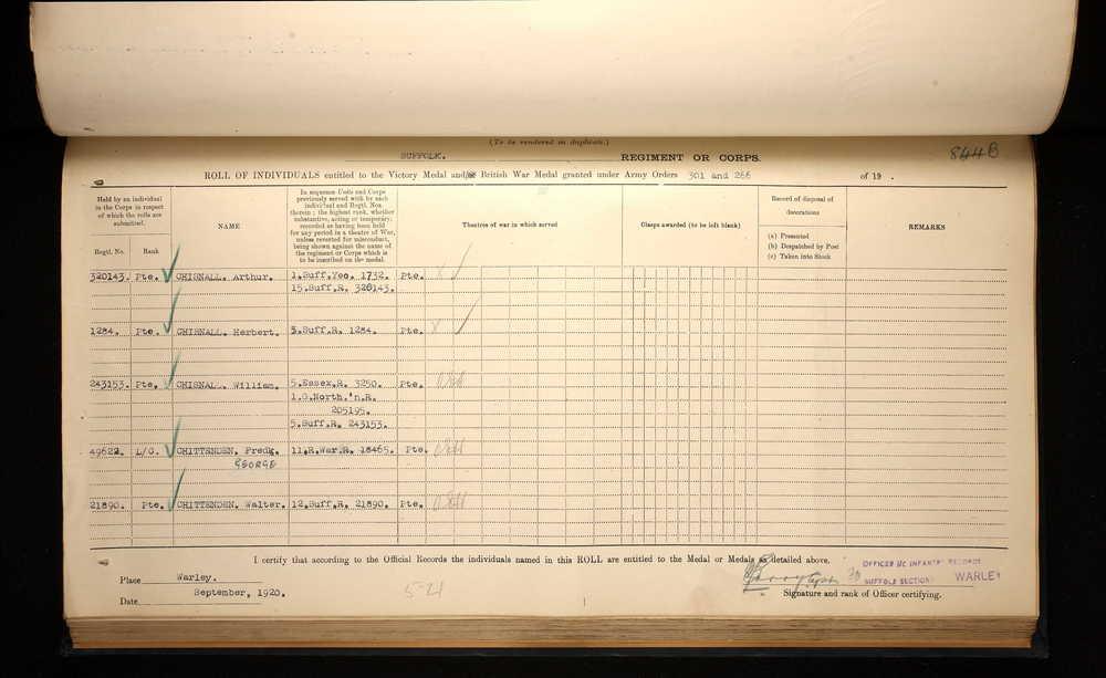 Herbert Chisnall medal register.jpg
