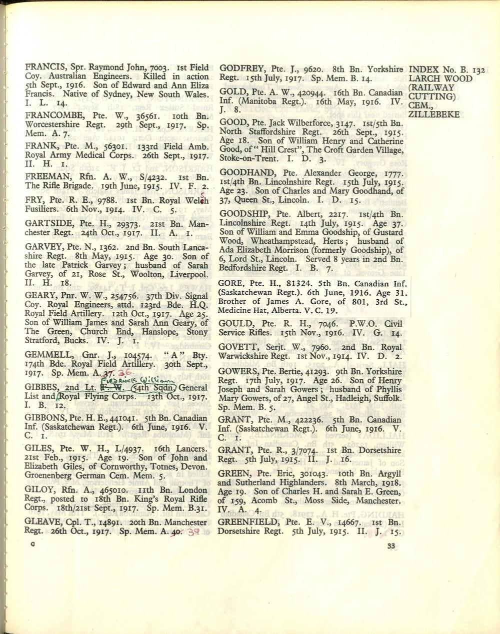 Bertie Gowers grave registration.JPG