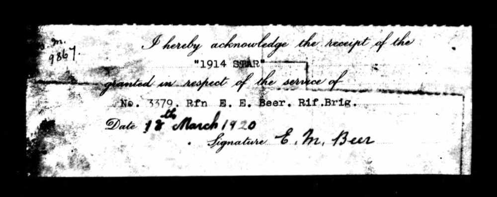 Beer 1914 Star voucher.jpg