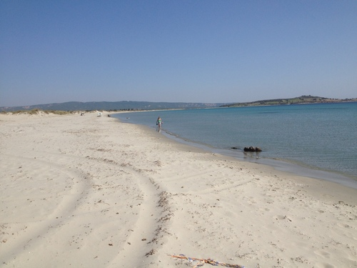 The landing beach at Suvla Bay.