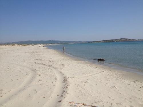 The landing beach at Suvla Bay.