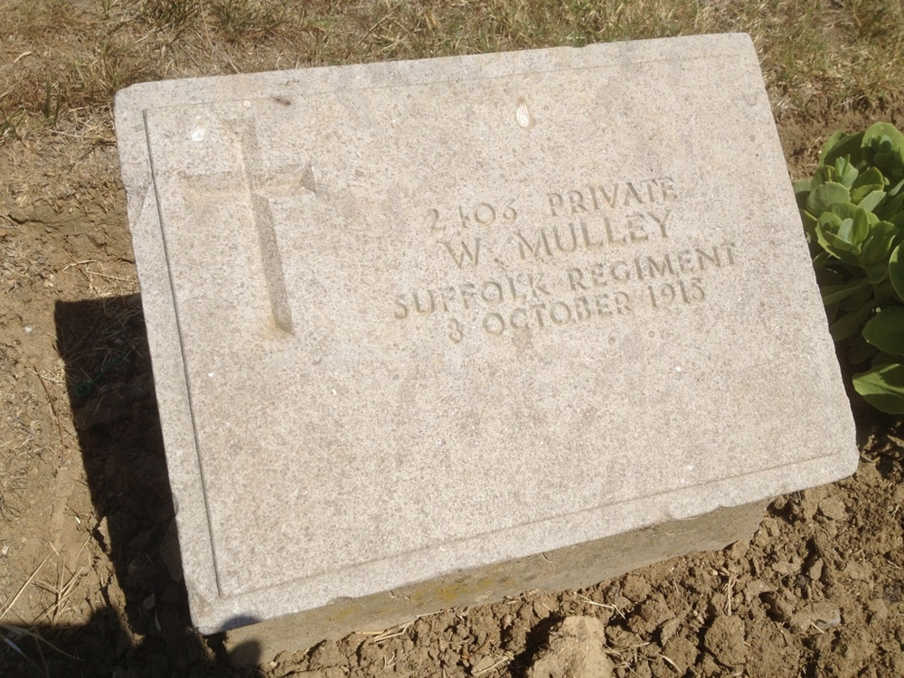 William's headstone