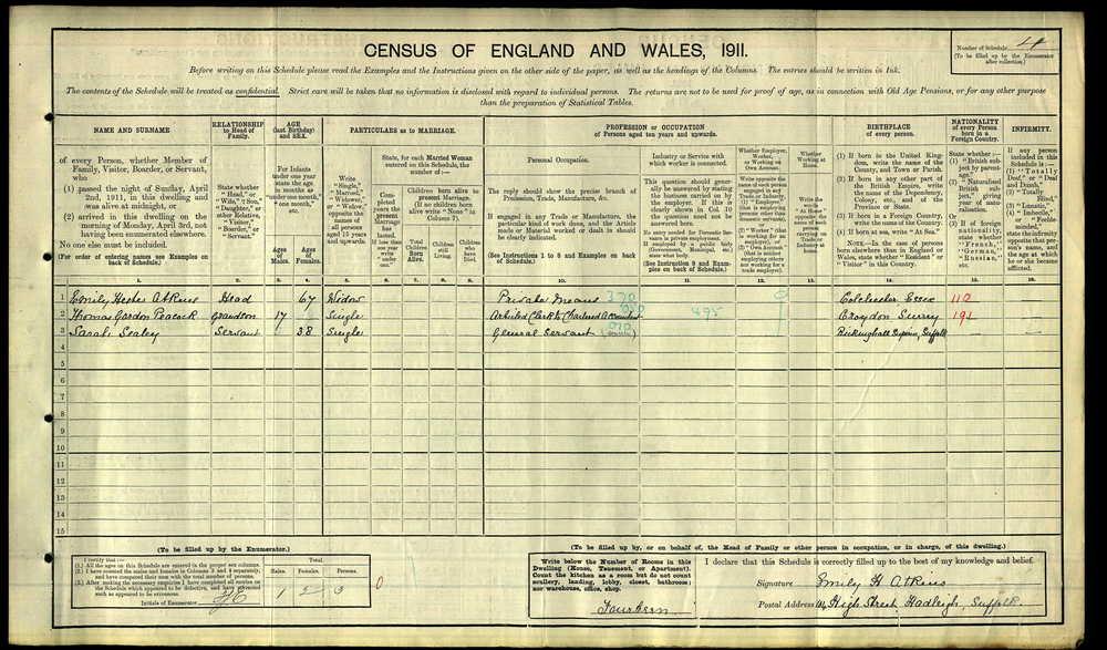 1911 Census - 104 High Street