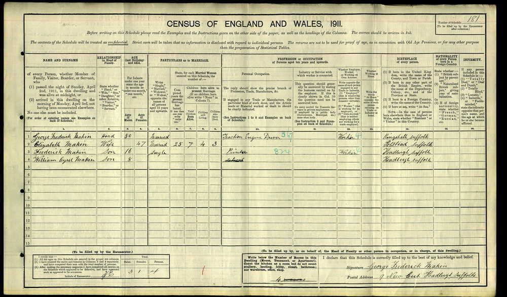 1911 Census - 9 New Cut