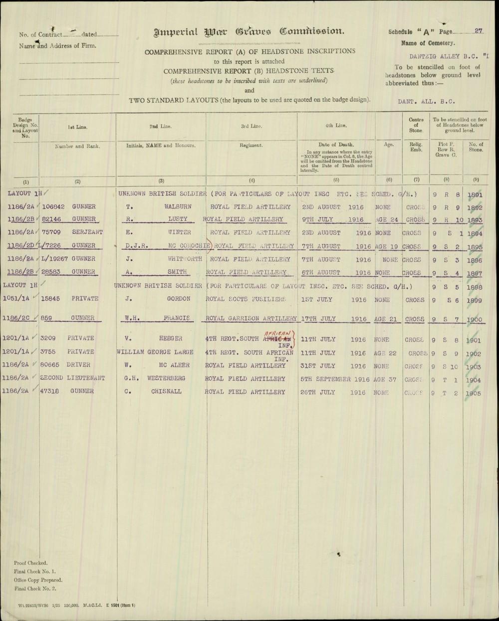 CWGC Headstone 1 Chisnall.JPG