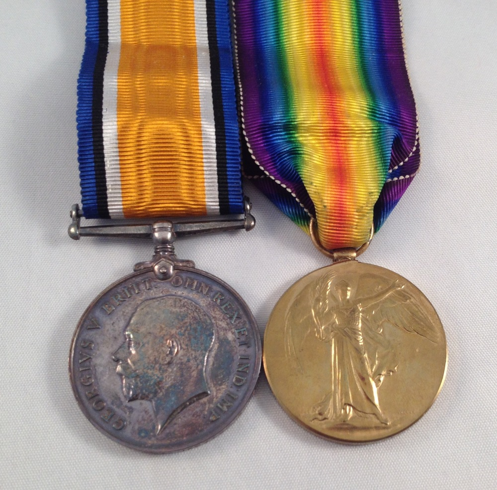 Private Stanley William Corder was entitled to the above medals.  The whereabouts of Stanley's actual medals is currently unknown.