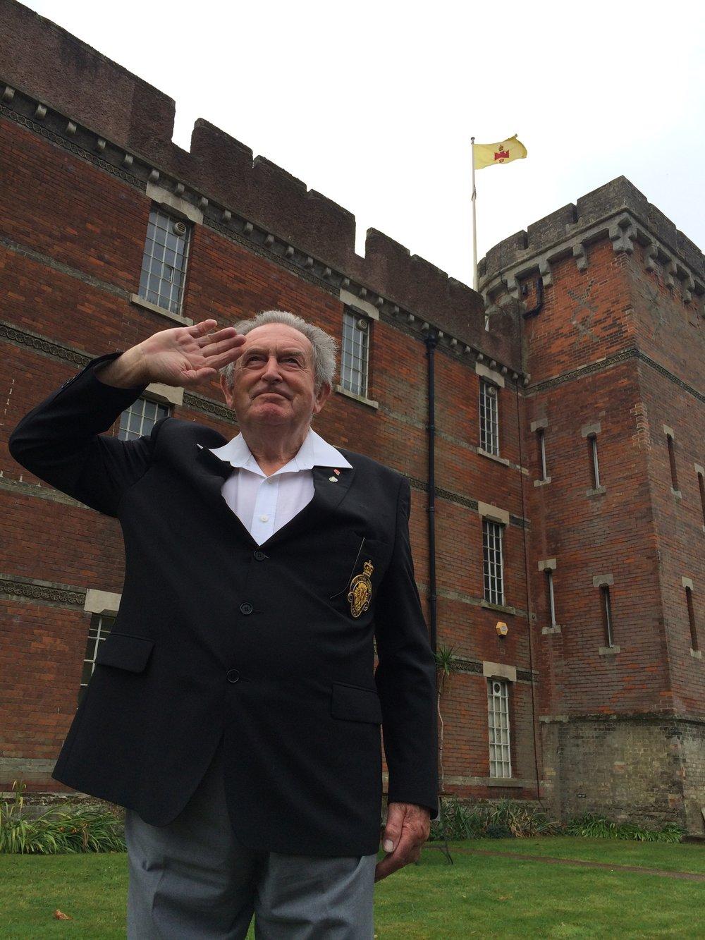 Mr Len Davis, ex Rifle Brigade & Hadleigh RBL Standard Bearer
