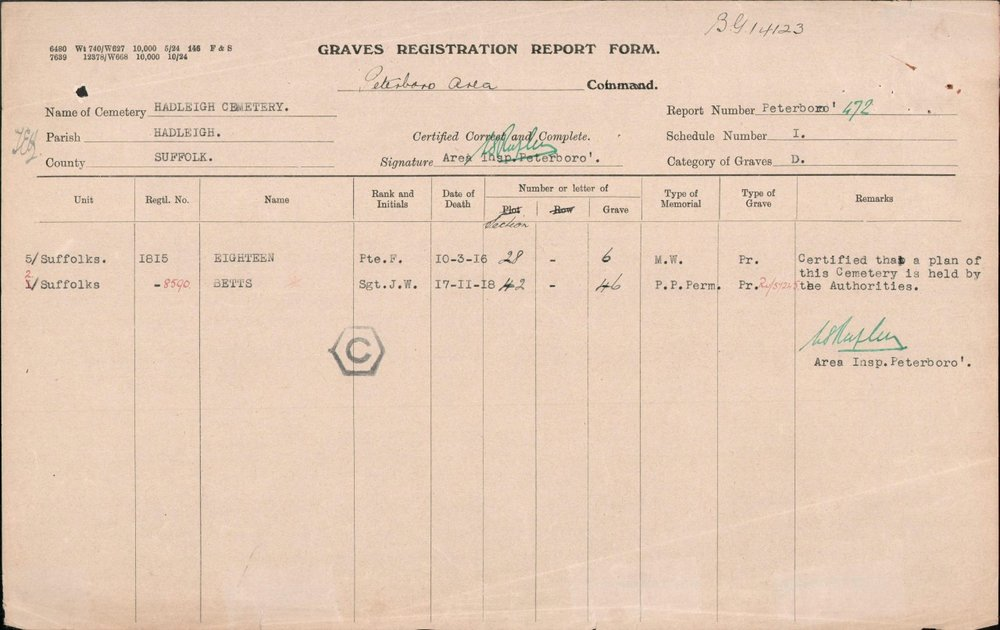 cwgc Grave Registration Frederick eighteen.JPG