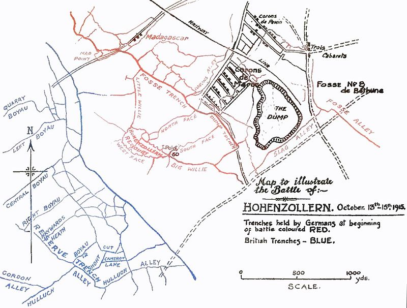 Trench lines from October 1915