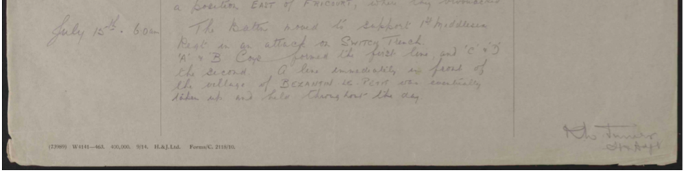 war diary 15 July 1916.png