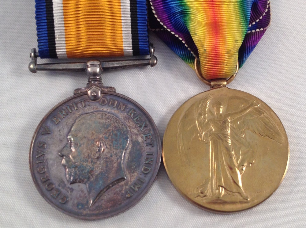 Private Codling was entitled to the above two medals.  The actual whereabouts of his medals is not known