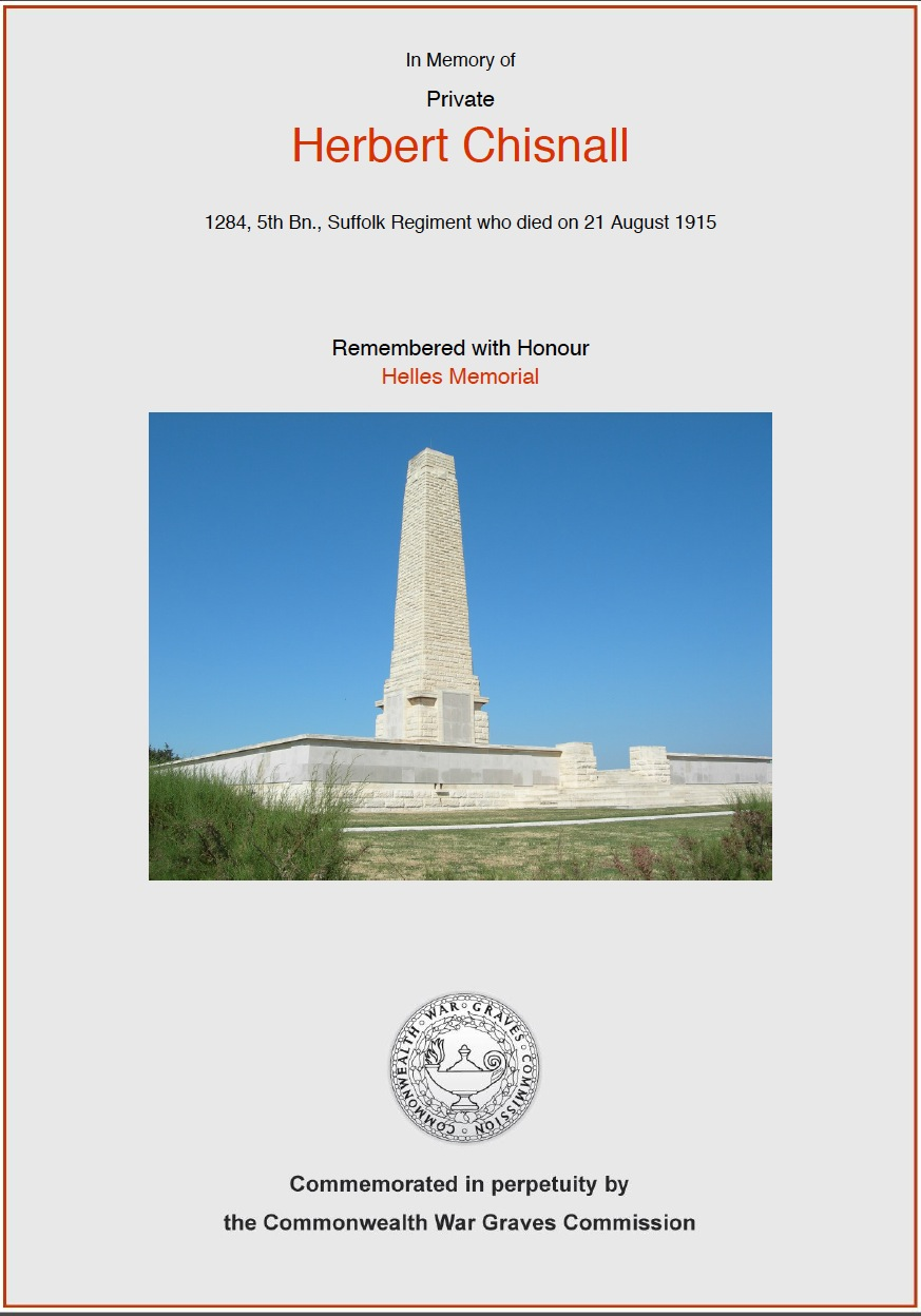 CWGC Commemorative Certificate