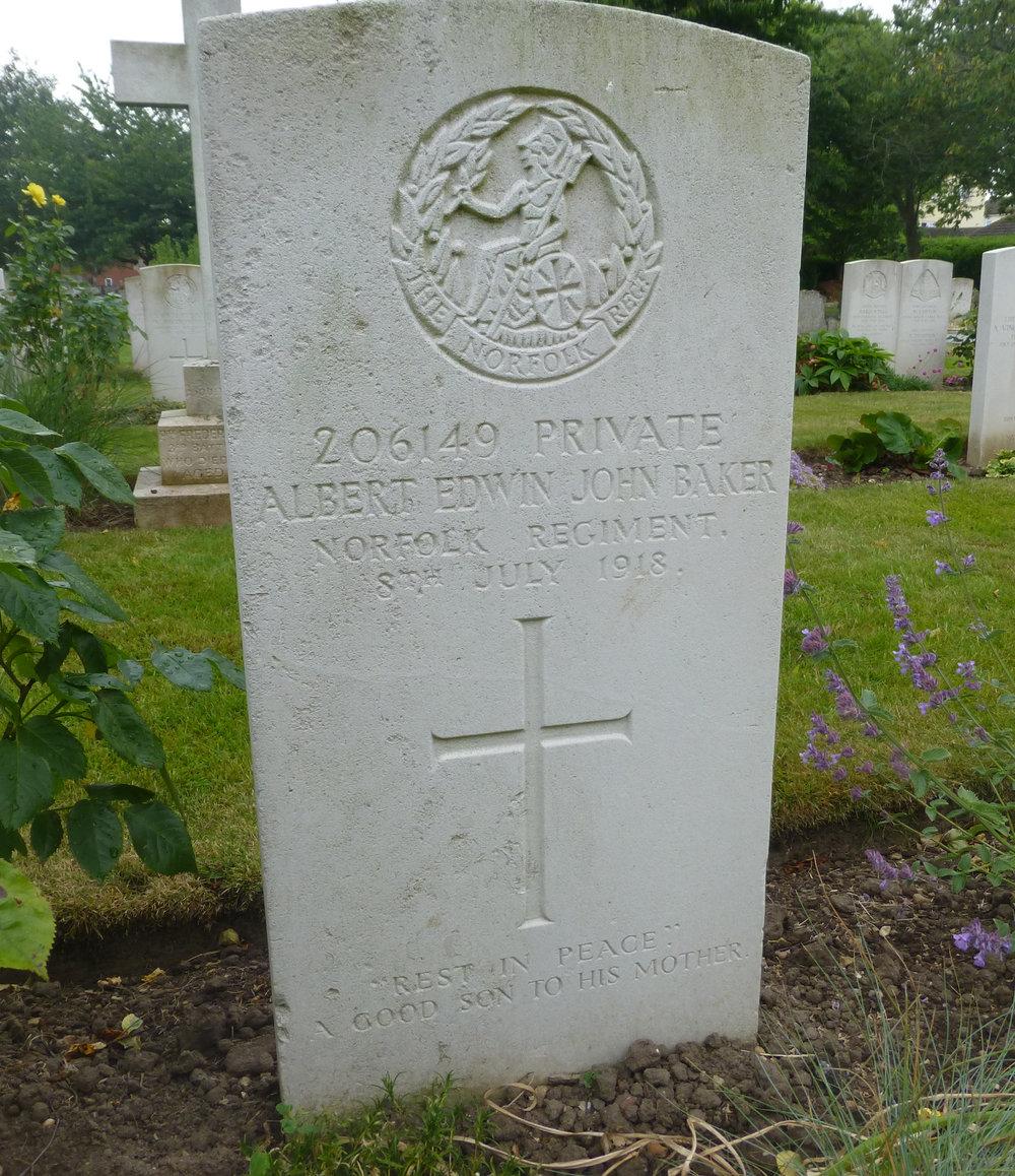 Albert Edwin John Baker gravestone copy portrait.jpg