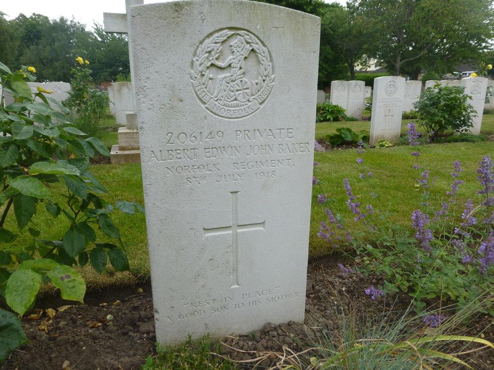 Albert Edwin John Baker gravestone.JPG
