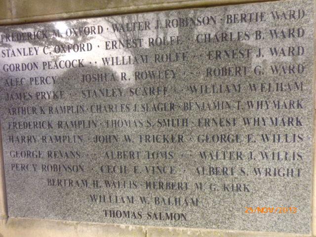 Hadleigh memorial
