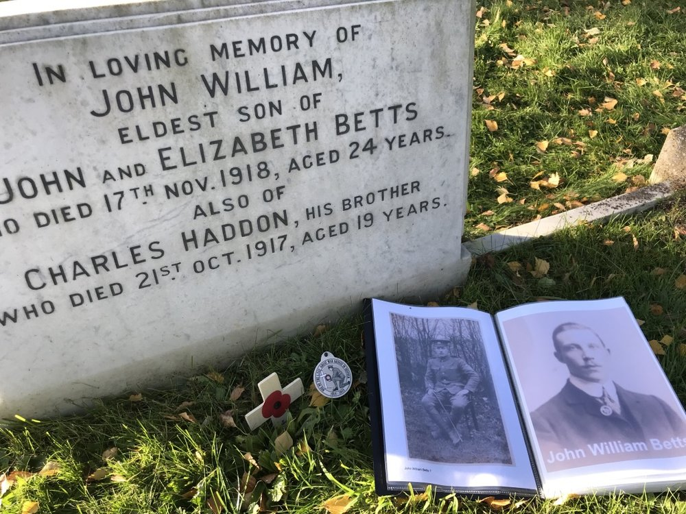 John's grave in Hadleigh cemetery