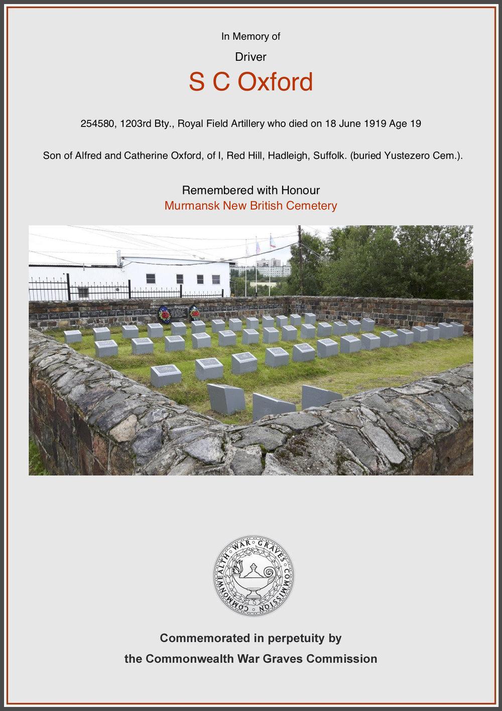 CWGC Commemorative Certificate