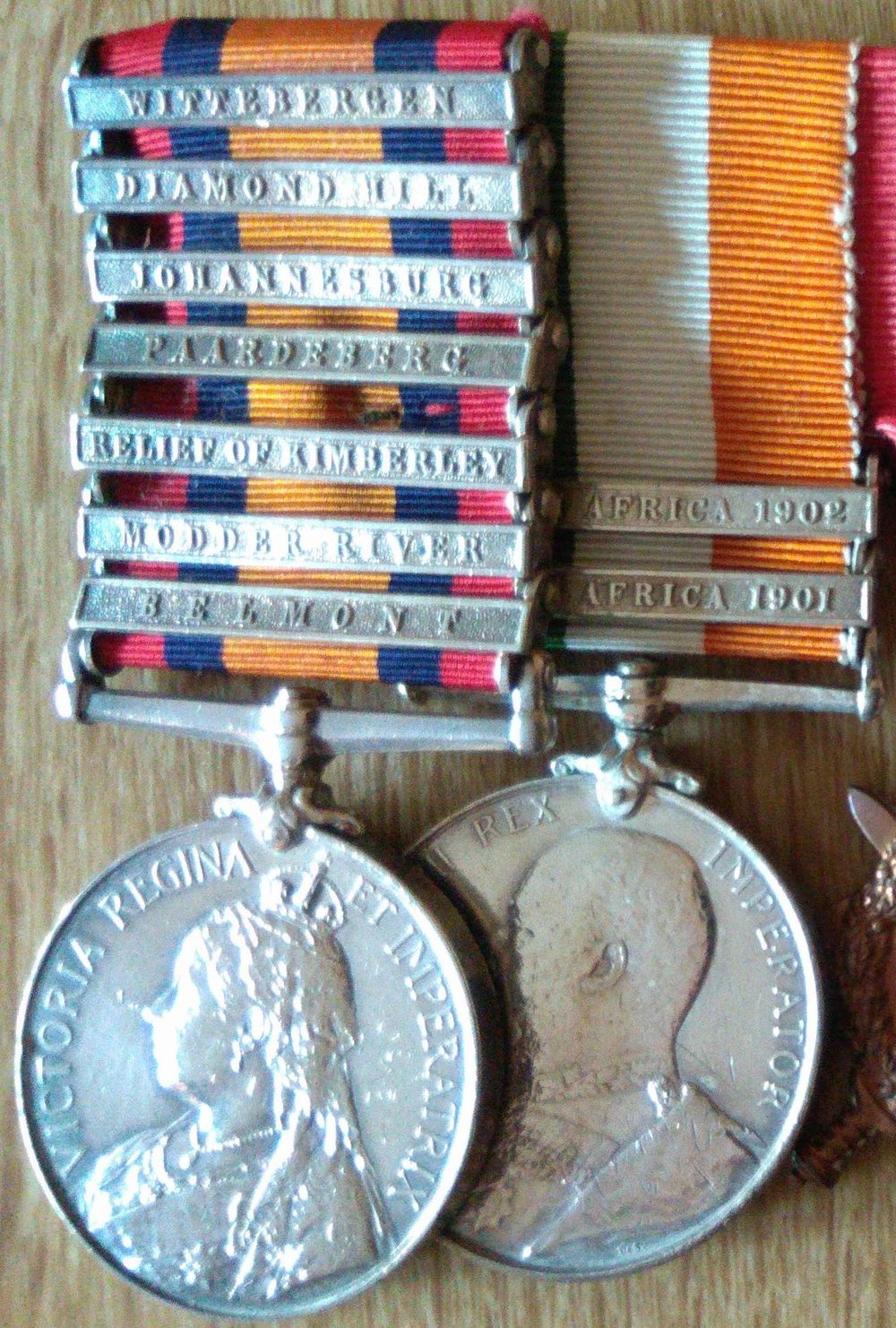 Walter's South African War medals.