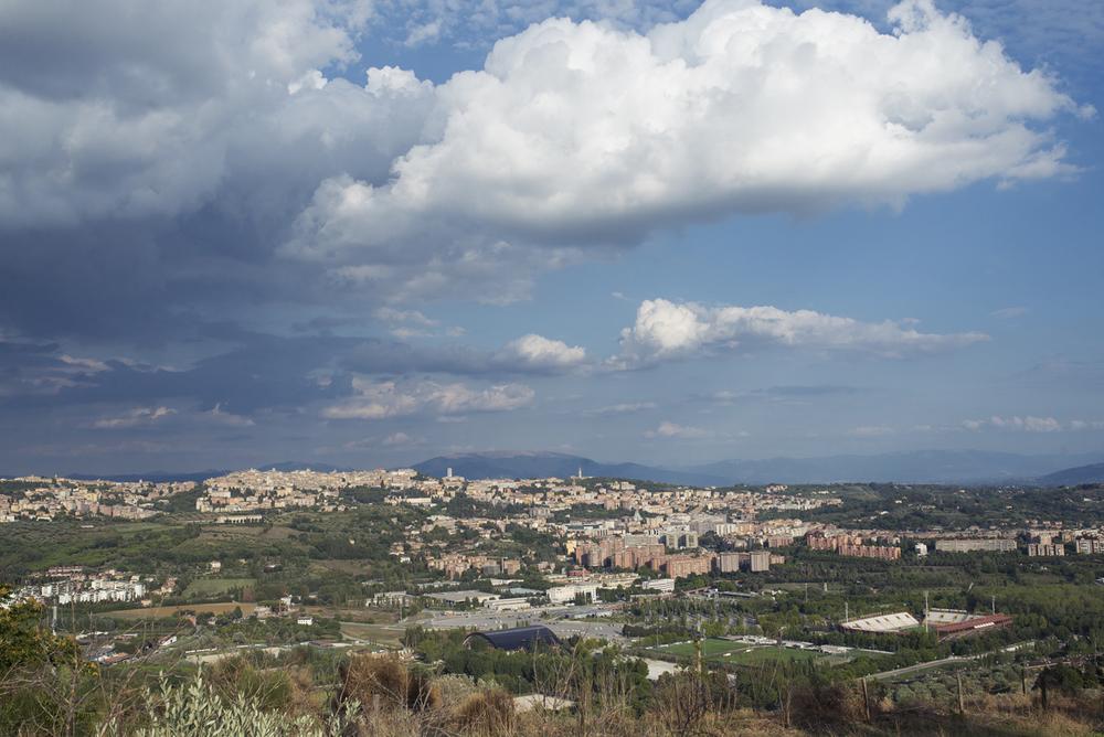 A view of Perugia from Citta' della domenica