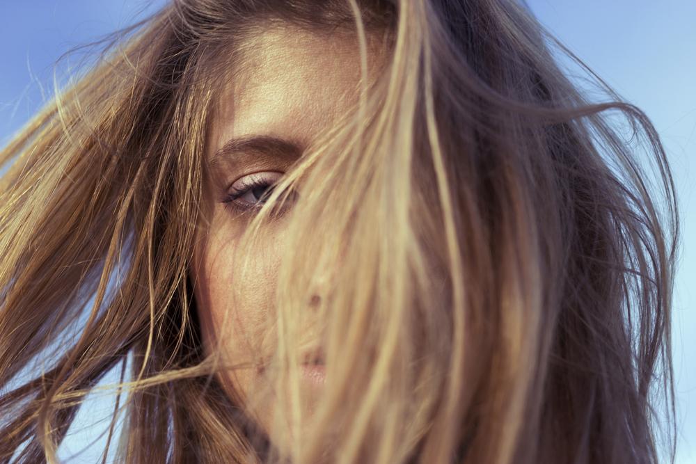 girl blonde hair portrait