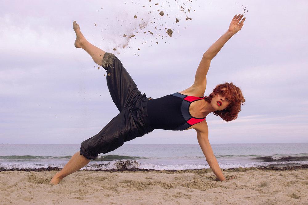 ibiza beach shoot swimwear model